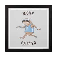 Move Faster - black-square-framed-print - small view