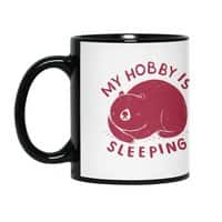 my hobby is sleeping - black-mug - small view