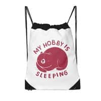 my hobby is sleeping - drawstring-bag - small view
