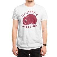 my hobby is sleeping - mens-regular-tee - small view