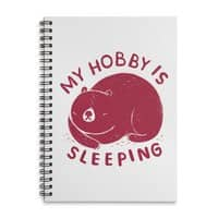my hobby is sleeping - spiral-notebook - small view