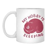 my hobby is sleeping - white-mug - small view