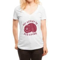 my hobby is sleeping - womens-deep-v-neck - small view