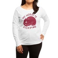 my hobby is sleeping - womens-long-sleeve-terry-scoop - small view