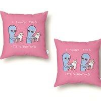 Strange Planet: I Found This It's Vibrating - throw-pillow - small view