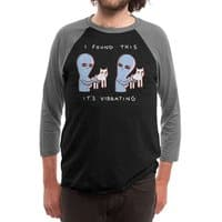 Strange Planet: I Found This It's Vibrating - triblend-34-sleeve-raglan-tee - small view