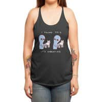 Strange Planet: I Found This It's Vibrating - womens-triblend-racerback-tank - small view