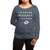 Strange Planet: Imagine Pleasant Nonsense - womens-long-sleeve-terry-scoop - small view