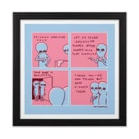 Strange Planet: We Own Things But Have Hidden Them - black-square-framed-print - small view