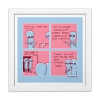 Strange Planet: We Own Things But Have Hidden Them - white-square-framed-print - small view