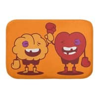 Heart Always Wins ;D - bath-mat - small view