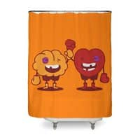 Heart Always Wins ;D - shower-curtain - small view