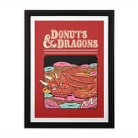 Donuts and Dragons - black-vertical-framed-print - small view