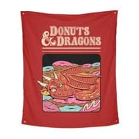 Donuts and Dragons - indoor-wall-tapestry-vertical - small view