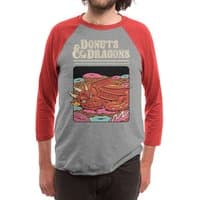 Donuts and Dragons - triblend-34-sleeve-raglan-tee - small view