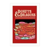 Donuts and Dragons - vertical-print - small view