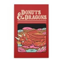 Donuts and Dragons - vertical-stretched-canvas - small view