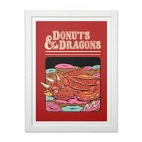 Donuts and Dragons - white-vertical-framed-print - small view