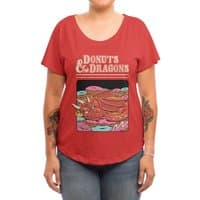 Donuts and Dragons - womens-dolman - small view