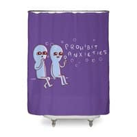 Strange Planet: Prohibit Anxieties - shower-curtain - small view