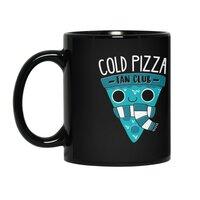 Cold Pizza Fan Club - black-mug - small view