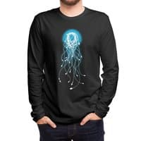 Electric Jellyfish (Black Variant) - mens-long-sleeve-tee - small view