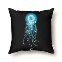 Electric Jellyfish (Black Variant) - throw-pillow - small view