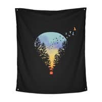 Flying Far Far Away (Black Variant) - indoor-wall-tapestry-vertical - small view