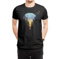 Flying Far Far Away (Black Variant) - mens-regular-tee - small view