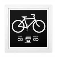 Infinity MPG (Black Variant) - white-square-framed-print - small view