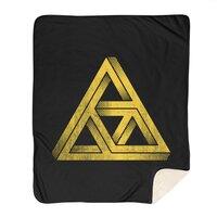 Penrose Triforce (Black Variant) - blanket - small view