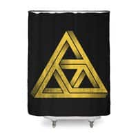 Penrose Triforce (Black Variant) - shower-curtain - small view