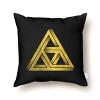 Penrose Triforce (Black Variant) - throw-pillow - small view