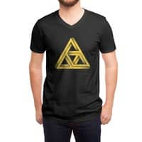 Penrose Triforce (Black Variant) - vneck - small view