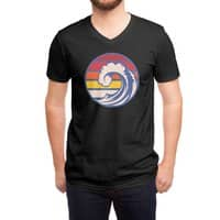 Ride the Wave (Black Variant) - vneck - small view