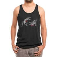 T-Rex Boxing (Black Variant) - mens-triblend-tank - small view