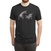 T-Rex Boxing (Black Variant) - mens-triblend-tee - small view