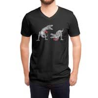 T-Rex Boxing (Black Variant) - vneck - small view