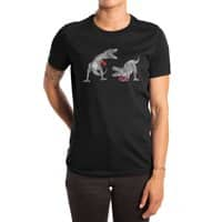 T-Rex Boxing (Black Variant) - womens-extra-soft-tee - small view