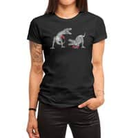 T-Rex Boxing (Black Variant) - womens-regular-tee - small view