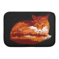 The Girl in the Red Forest (Black Variant) - bath-mat - small view