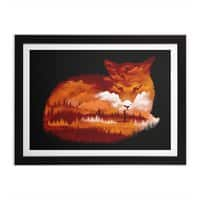 The Girl in the Red Forest (Black Variant) - black-horizontal-framed-print - small view