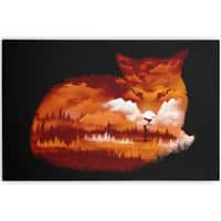 The Girl in the Red Forest (Black Variant) - horizontal-canvas - small view