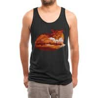 The Girl in the Red Forest (Black Variant) - mens-triblend-tank - small view