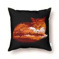 The Girl in the Red Forest (Black Variant) - throw-pillow - small view