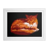 The Girl in the Red Forest (Black Variant) - white-horizontal-framed-print - small view
