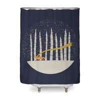 The Gold Scarf - shower-curtain - small view