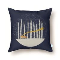 The Gold Scarf - throw-pillow - small view