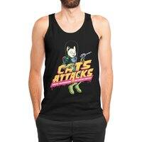 Cats Attacks - mens-jersey-tank - small view