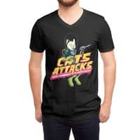 Cats Attacks - vneck - small view